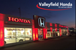 http://www.valleyfieldhonda.com Client satisfaction is Valleyfield Honda's number 1 priority. Powered by the tremendous value of the Honda product line, this dealership's focus is on the client satisfaction and being a good, community focused corporate citizen.